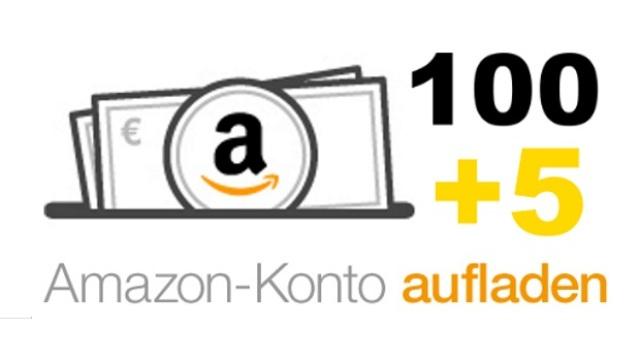 [Amazon] 105 € (100 € Guthaben & 5 € Aktionsguschein) für 100 € Aufladung