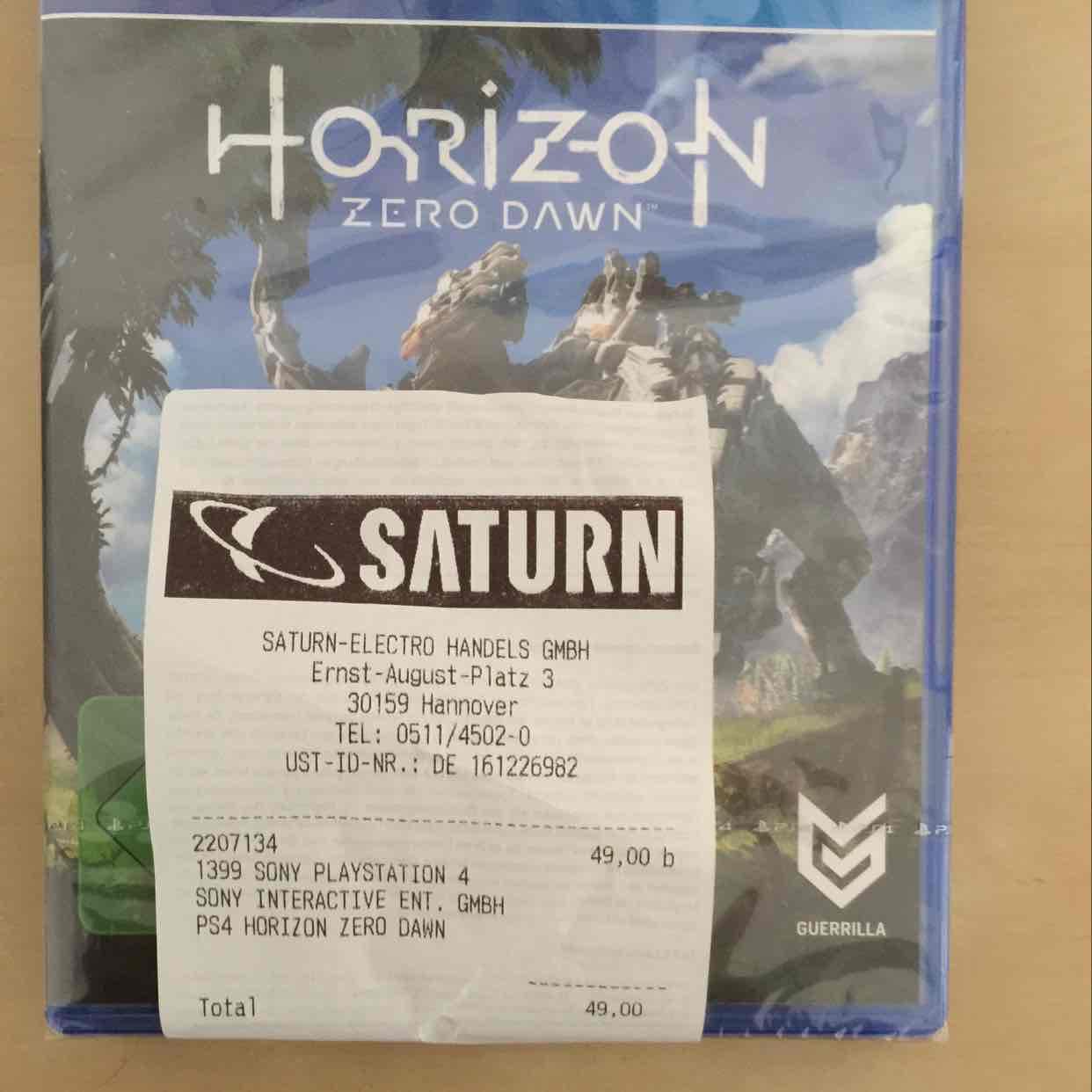 [lokal Hannover Saturn] Horizon: Zero Dawn PS4