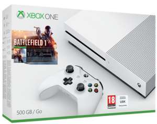 Xbox One S 500GB inkl. Battlefield 1 + Forza Horizon 3 & Halo Wars 2 für 270€ inkl. VSK (Shopto)