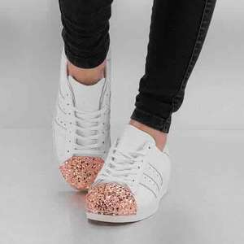 adidas Sneaker Superstar 80s 3D Metall W in weiß