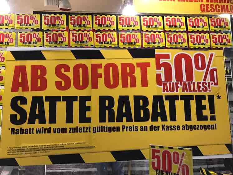 [Lokal Duisburg Stadtmitte] - Woolworth 50% auf ALLES (!) vom 02.03-04.03