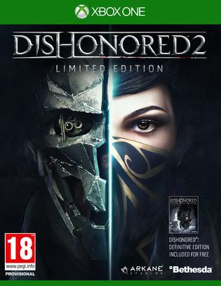 Dishonored 2: Das Vermächtnis der Maske Limited Edition inkl. Dishonored Definitive Edition (PS4/Xbox One) für 26,52€ (Shopto)