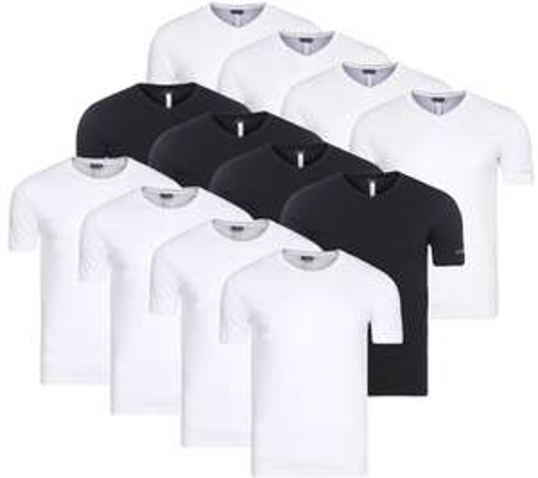 [Outlet46] 4er Pack Kappa Sebbo 2 (V-Ausschnitt) & Tobias (Rundhals) Herren T-Shirt -- 100% Baumwolle --- M - XXL