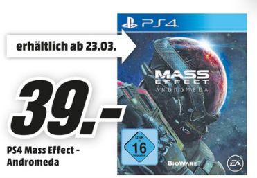 [Lokal Mediamarkt Köln Kalk ab Montag] EA Mass Effect: Andromeda (Playstation 4) für 39,-€..Abholbar ab 23.03