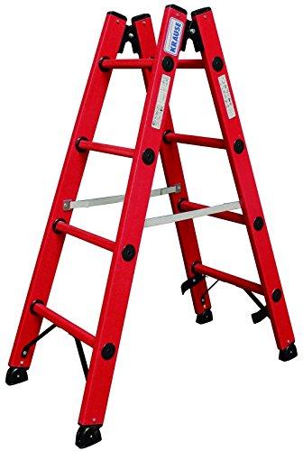 Amazon.de spare 600€ und zahle nur 302€ für Krause lhb758 Leiter doppelt Kunststoff in Fiberglas, 2 x 12 Stufen, 3.5 m Höhe