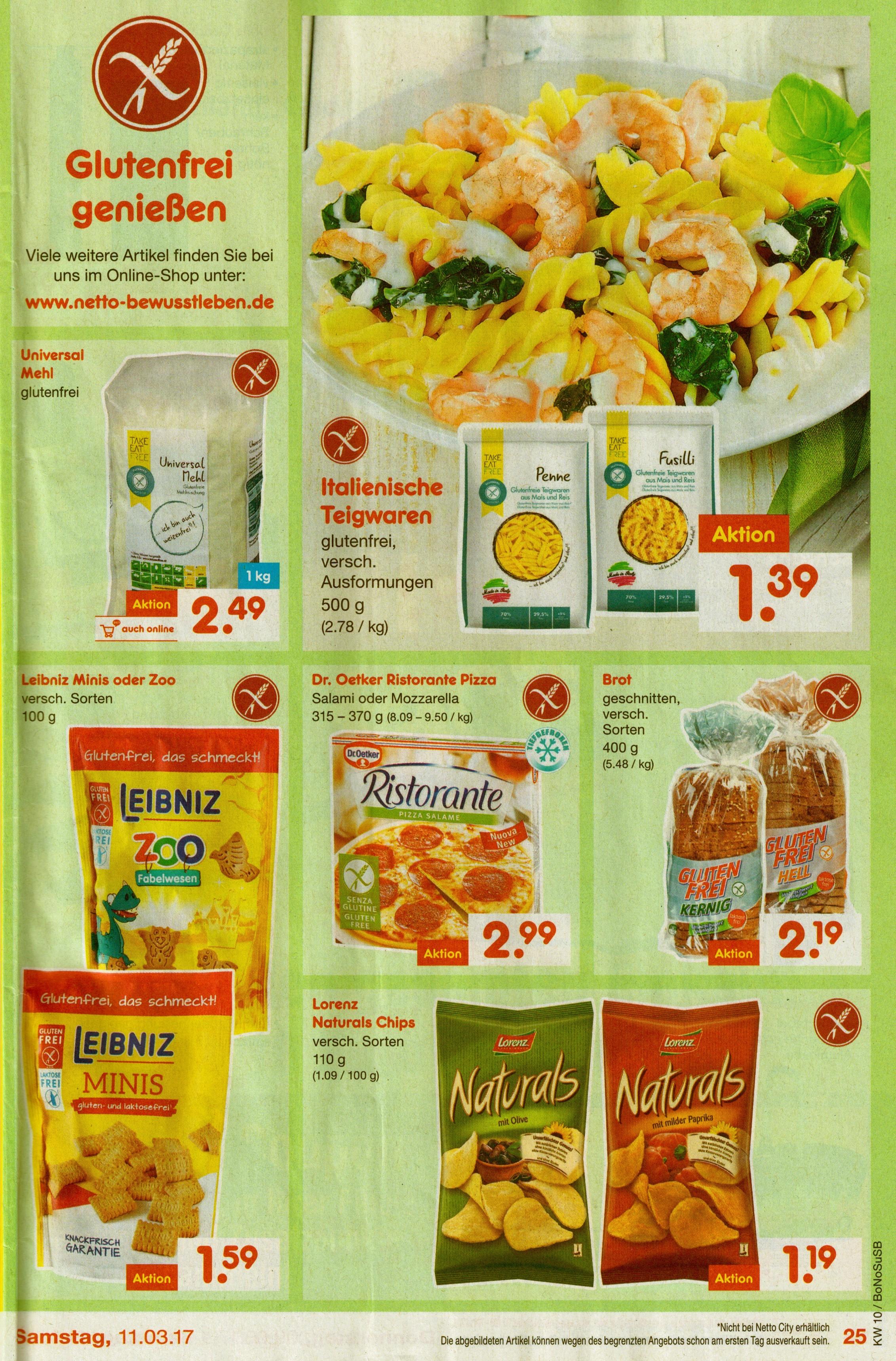 [glutenfrei] Netto - glutenfreie Produkte im Angebot und Onlineshop