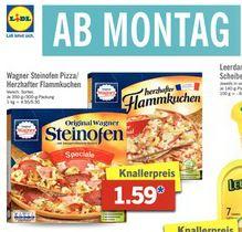 [Lidl] Wagner Steinofen Pizza oder Herzhafter Flammkuchen für 1,59 € ab Montag 06.03.17
