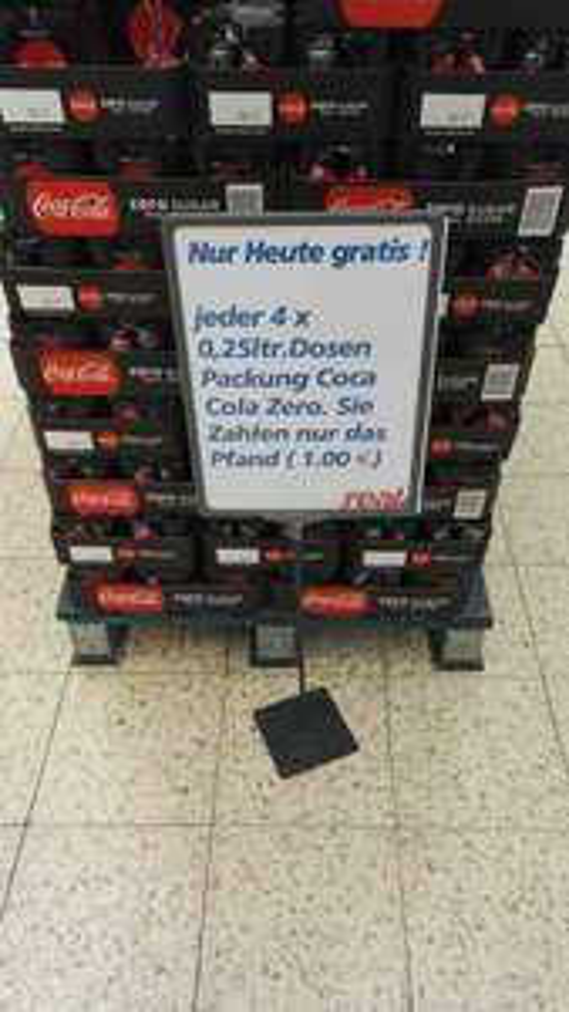 Nur (noch) heute! 4x 0,25ltr Dosen Coca Cola Zero für nur 1€ inklusive Pfand @ real