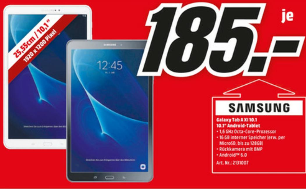 [Lokal] Samsung Galaxy Tab A 10.1, Schwarz oder Weiß, 16 GB [Media Markt Köln Kalk]