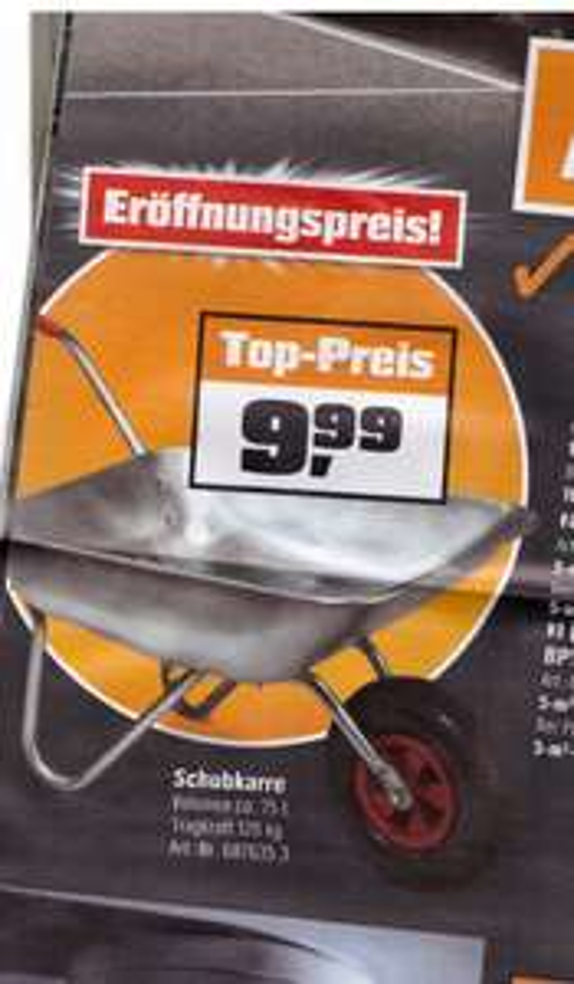 LOKAL OBI Eschweiler Schubkarre für 9,99€ statt 24,99€