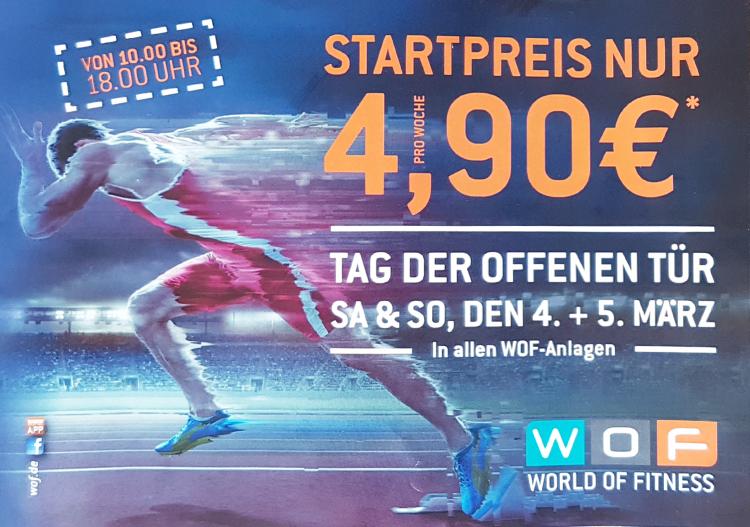 [Aachen] Tag der offenen Tür bei allen WOF-Anlagen 2 Tage gratis Training