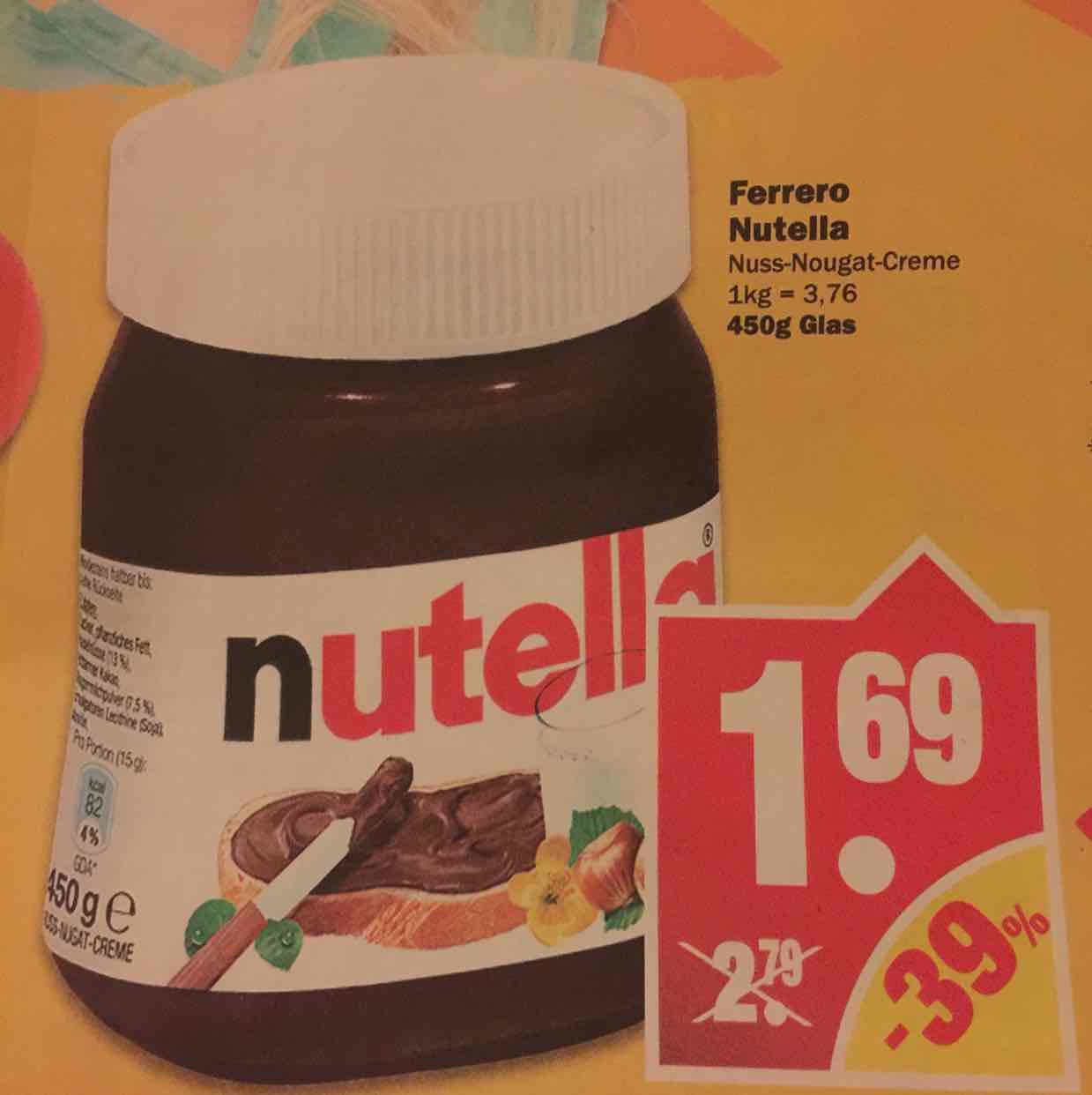Nutella 450g für 1,69€ [NP]