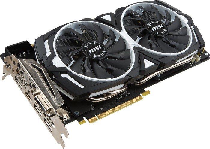 MSI Geforce GTX 1080 Armor 8G OC Grafikkarte + Ghost Recon / For Honor für 488,01€ [Amazon.it]