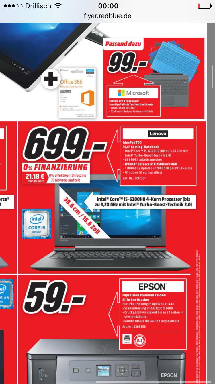 Lenovo Ideapad 700 15ISK Media Markt