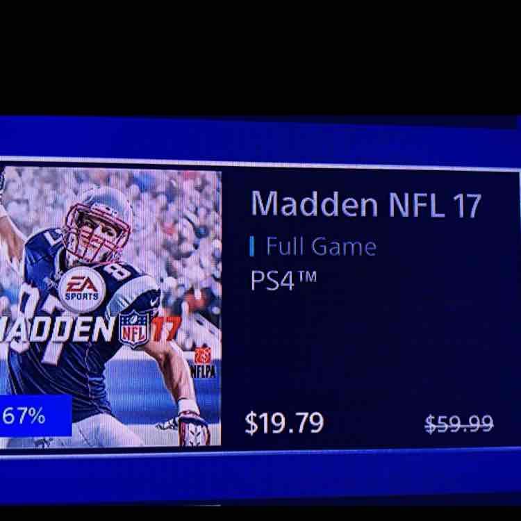 Madden NFL 17 PSN Store US