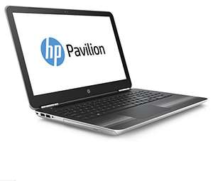 [Amazon] HP Pavilion (15-au110ng) 39,6 cm (15,6 Zoll / Full HD) Notebook (Laptop mit: Intel Core i3-7100U, 128 GB SSD, 1 TB HDD, 8 GB RAM, Intel HD Graphics, Windows 10 Home) silber