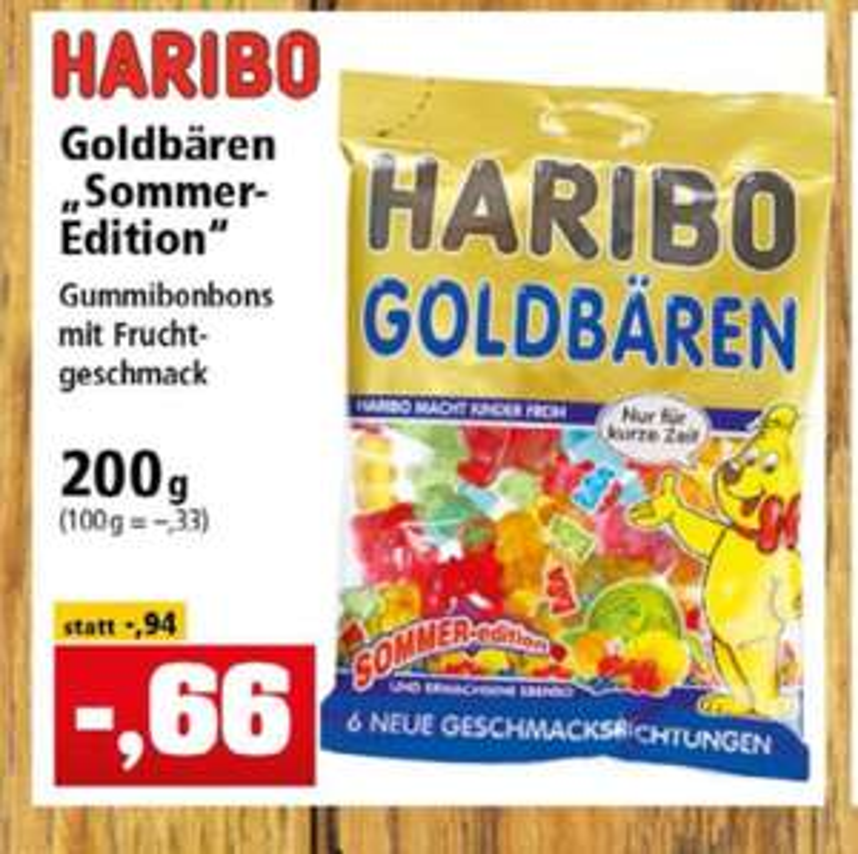 """Haribo Goldbären """"Sommer-Edition"""" 200g für 0,66€ [Thomas Philipps]"""