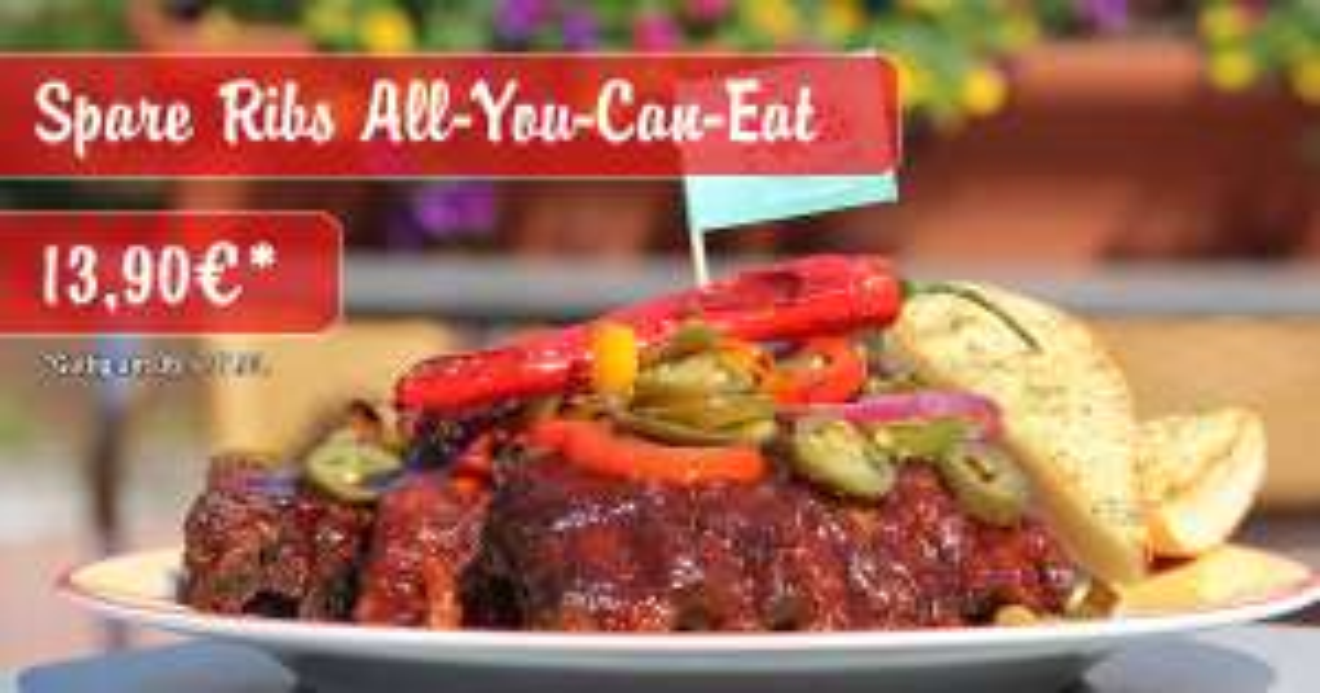 [wieder da] All You Can Eat für Spare Ribs nur 13,90€ bei Miss Pepper American Restaurants am 6. & 7.3.2017