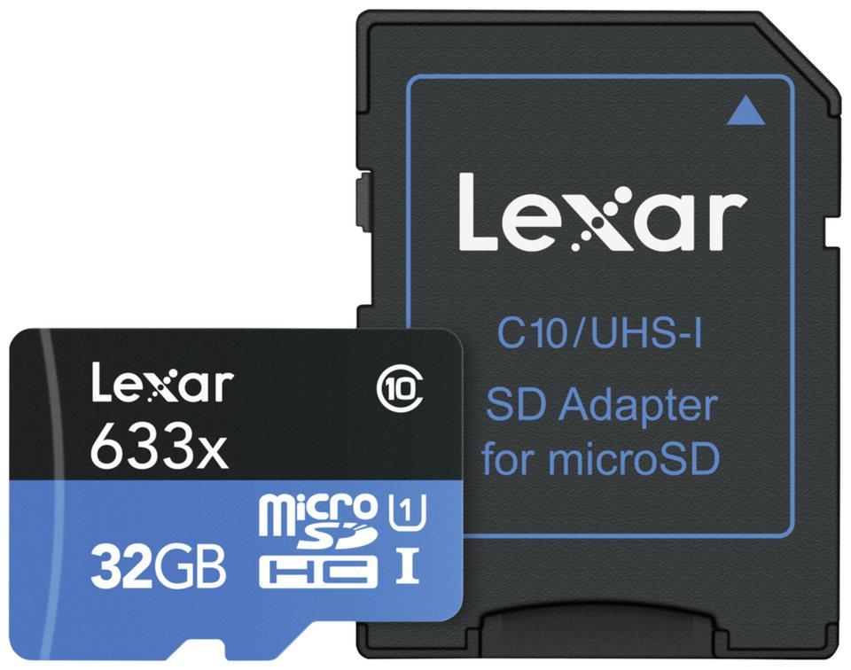 Lexar microSDHC 633x UHS-I 32GB mit Adapter für 6 € inkl. Versand statt 18,39 € (über OTTO 10€-Gutschein)