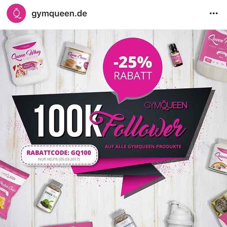 25% Rabatt bei gymqueen.de NUR HEUTE