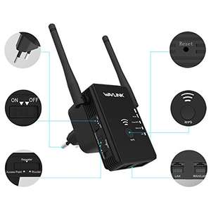 [Amazon Blitzangebot] Wavlink 300Mbit/s Wlan Verstärker | Wireless Access Point | Wlan Router in Schwarz für 16,55€