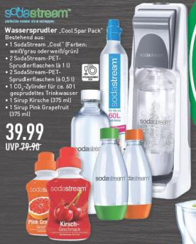 [Marktkauf Frechen & Wesseling] Sodastream Cool Wassersprudler - Spar Pack inkl. 4x PET-Flaschen + 2x Sirup