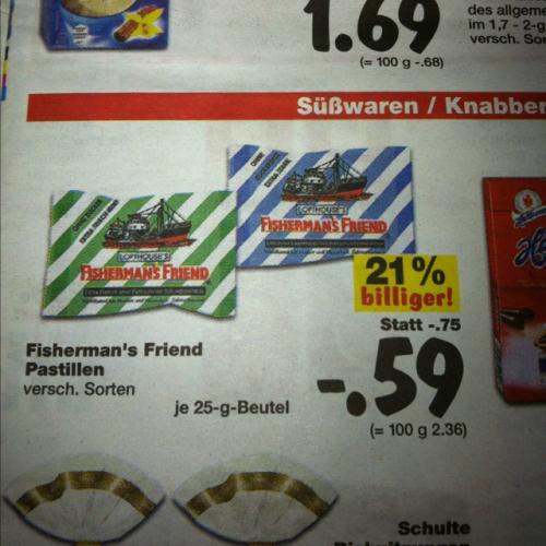 [Lokal? Lippstadt] Kaufland - Fisherman's Friend nur 59ct!