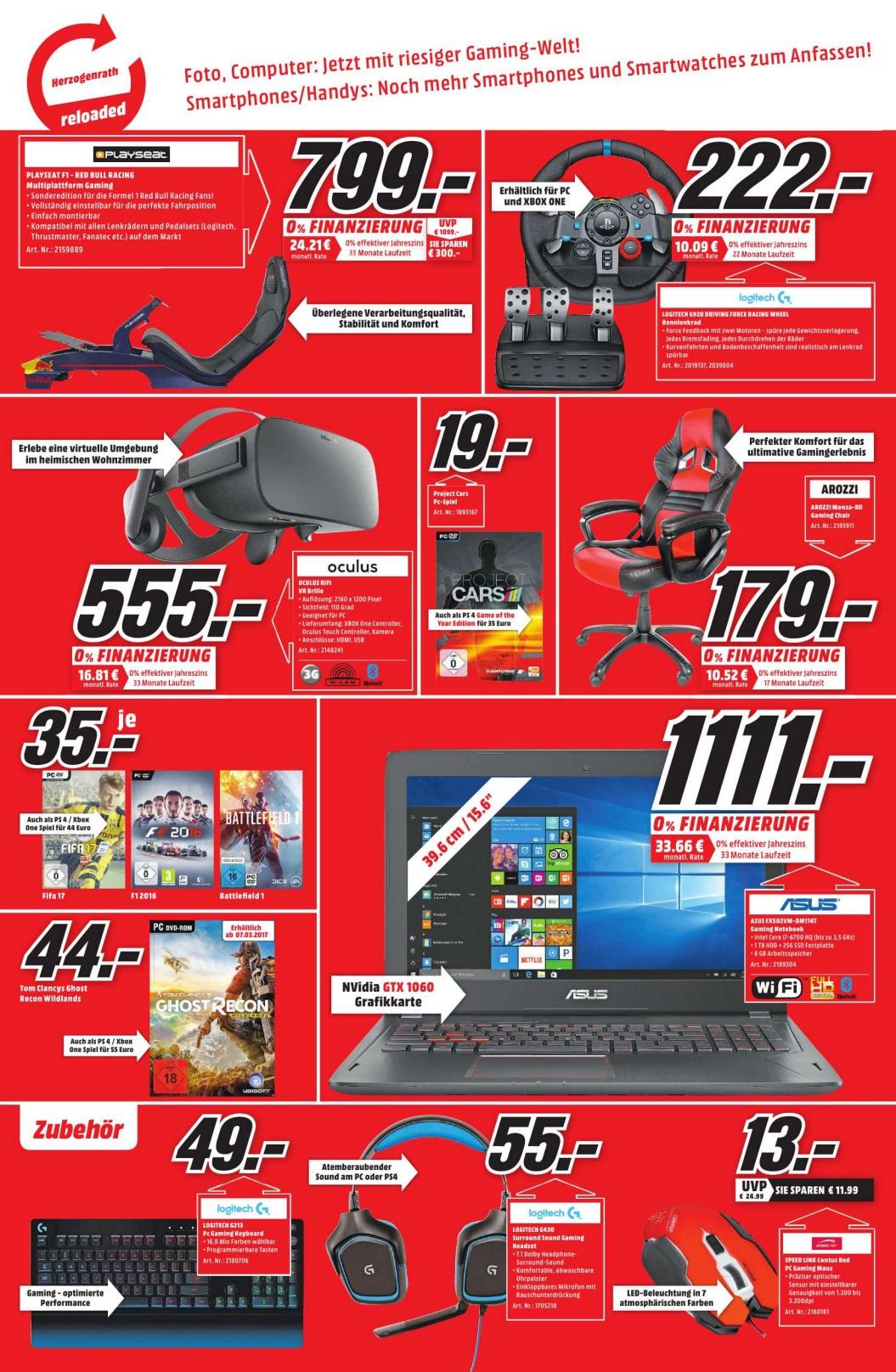 Lokal Media Markt Herzogenrath Oculus Rift 555€