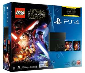 "Sony PlayStation 4 500GB gebraucht ""sehr gut"" + Lego Star Wars: The Force Awakens + Film auf Bluray für 180,51€ @ Amazon UK"