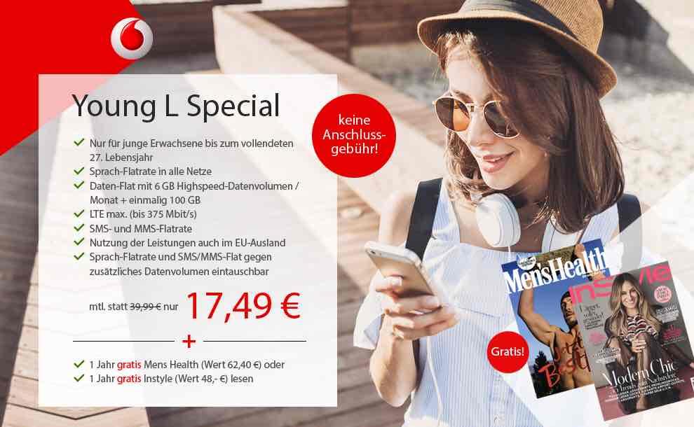 Young L Special Allnet Flat, Flat SMS Daten Flat 6GB