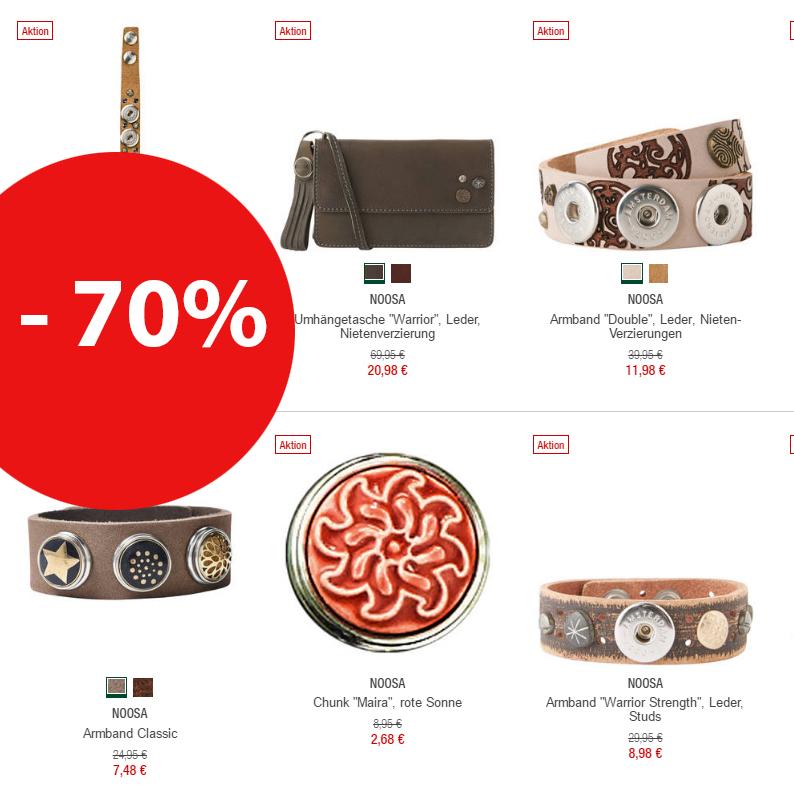 Galeria Kaufhof: 70% Rabatt auf alle Artikel der Marke Noosa