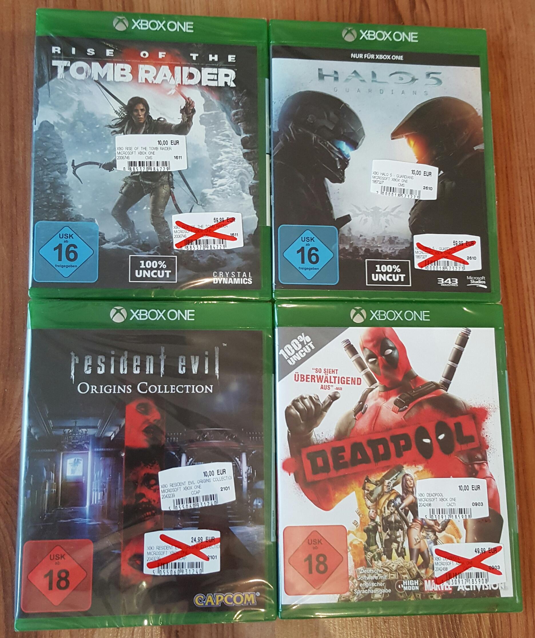 [Lokal MediaMarkt Emden] Xbox One | PS4 | PC Spiele - zb. Halo 5 , Deadpool , Rise of the Tomb Raider, uvm, je 10 €