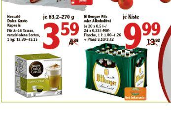 [LOKAL Globus Gensingen] Dolce Gusto Kapseln für    3,59 € / Packung