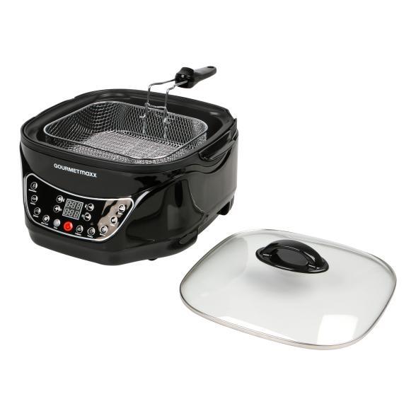 [1-2-3.tv] gourmetmaxx Multikocher Küchenmaschine Infrarot mit Grillrost / Frittierkorb 8-in-1 | 1500 W | Universalkocher|