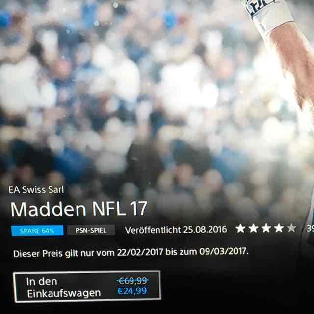 Madden NFL 17 für PS4