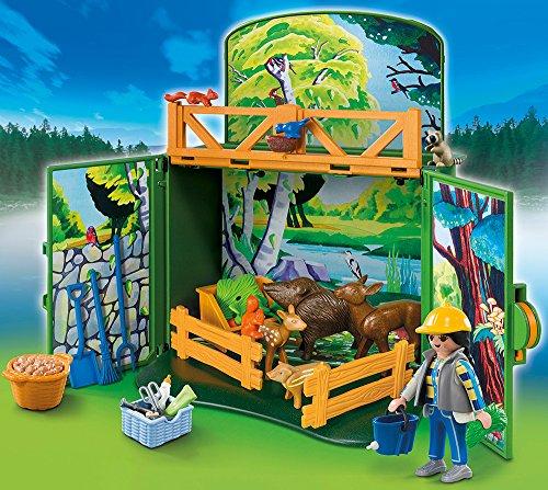 "[Amazon Prime] PLAYMOBIL 6158 - Aufklapp-Spiel-Box ""Waldtierfütterung"""