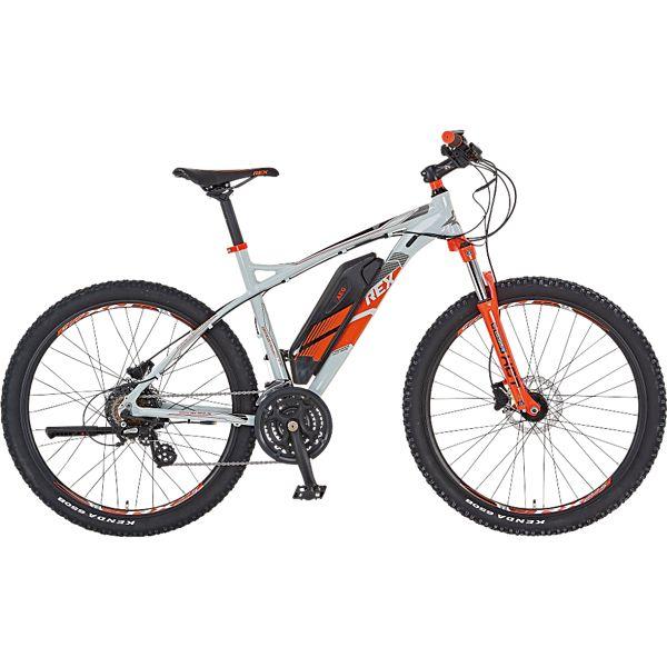 [Plus] Rex E-Bike Alu-Mtb 650B Bergsteiger 7.7 Elektrofahrrad, Schlamm Grau, 27.5 Zoll