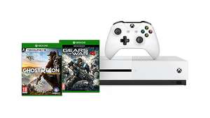 Microsoft Xbox One S 1TB + Tom Clancy's Ghost Recon: Wildlands + For Honor + Gears of War 4 für 334,41€ (Microsoft UK)