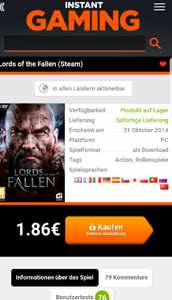 lords of the fallen ; Steam key
