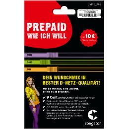 Congstar Prepaid SIM Karte und 10 € Startguthaben für 499 Payback Punkte bei payback.de