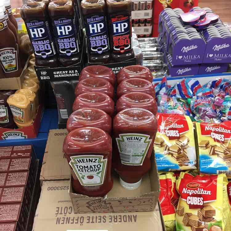 [ Schum Euroshop ] HP Barbecue Soße und Heinz Ketchup 700g Flasche