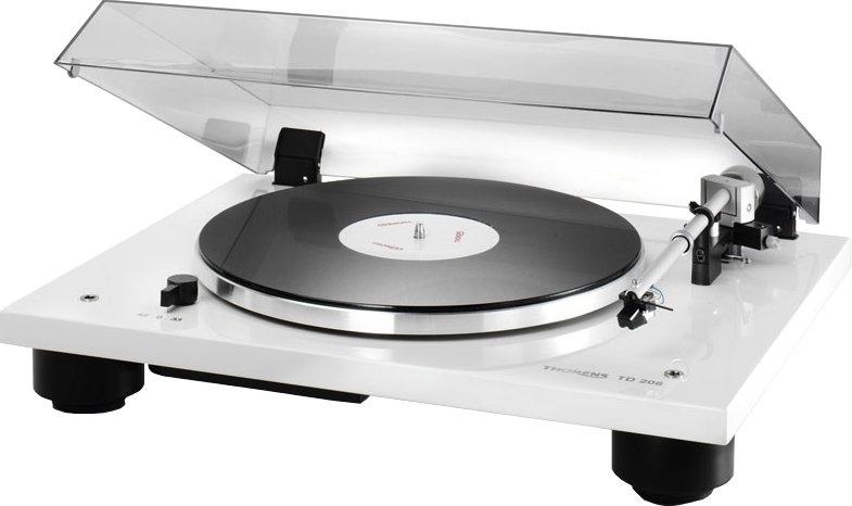 [SG-Akustik] Thorens TD 206 mit Ortofon 2M Bronze - Schallplattenspieler (schwarz, weiß, rot)