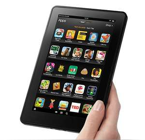 Kindle Fire, 17 cm (7 Zoll), LCD-Display, WLAN, 8 GB - Mit Spezialangeboten [Vorgängermodell] ab 18,72€ [Amazon Whd]