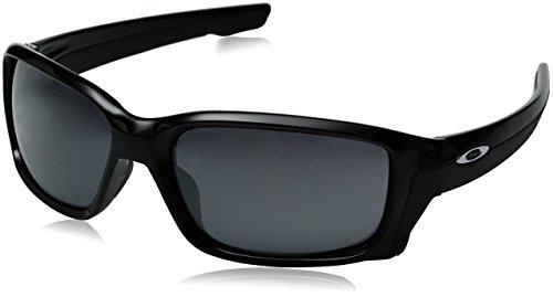 Oakley Herren Straightlink Sonnenbrille, Polished Black/Black Iridium, M/L und andere Farben