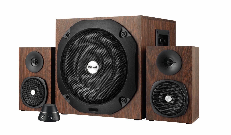 [Amazon] Trust Vigor 2.1 Holz Lautsprechersystem mit Subwoofer (für Smartphone/PC- Tablet, 100 Watt) braun