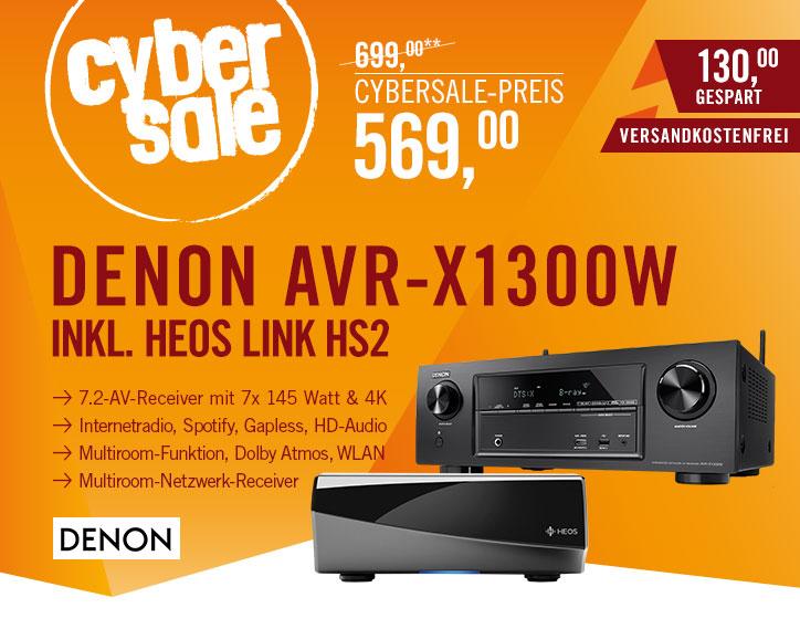 [Cyberport] SET: Denon AVR-X1300W 7.2 AV Receiver + HEOS HS2 Link Multiroom