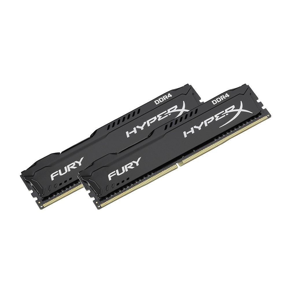 [amazon.fr] Kingston HyperX DIMM 8GB DDR4-2666 Kit, Arbeitsspeicher HX426C15FBK2/8, Fury Black für 57€ statt 76€
