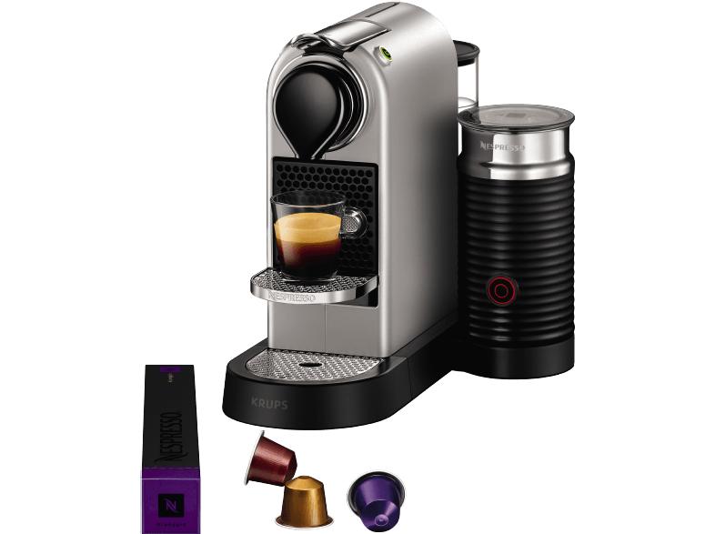 KRUPS XN760B Nespresso New CitiZ&milk, Kapselmaschine, Silber für 139€ bei Saturn online & Filialen