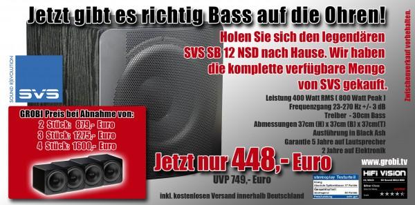 BASSGEWALTig der SVS SB12 NSD