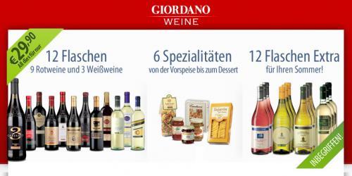 Wein Probepaket 24 Spitzenweine + 6 Spezialitäten von Giordano